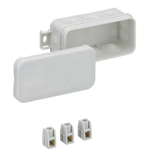 wall-mounted junction box / IP55 / polypropylene / PE