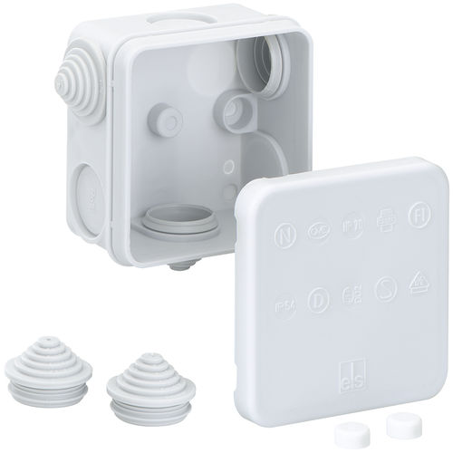 wall-mounted junction box / IP55 / polypropylene / with elastic membranes