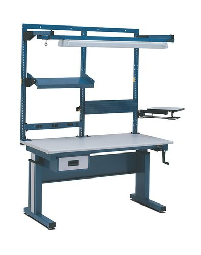 Height-adjustable workstation / assembly Multi Task System I IAC INDUSTRIES