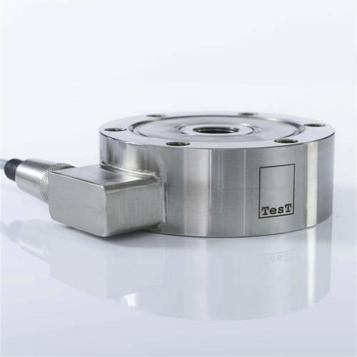 tension/compression force transducer / pancake type / high-precision / hermetic