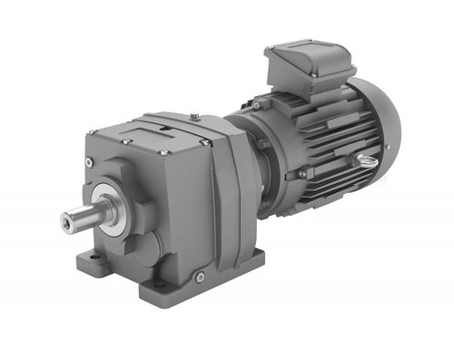 single-phase electric gearmotor / coaxial / helical / compact