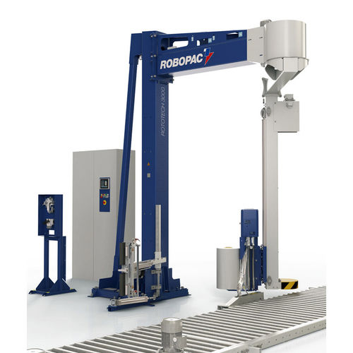 rotary arm stretch wrapper / fully automatic / pallet / stretch film