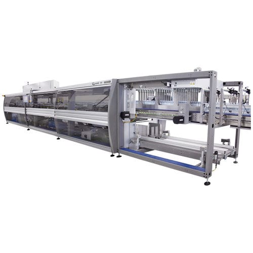 horizontal tray packer / automatic / for bottles