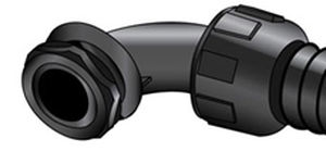 screw-in fitting / elbow / hydraulic / nylon