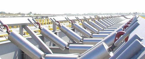 slip-on conveyor roller / steel / for heavy loads / low-noise level