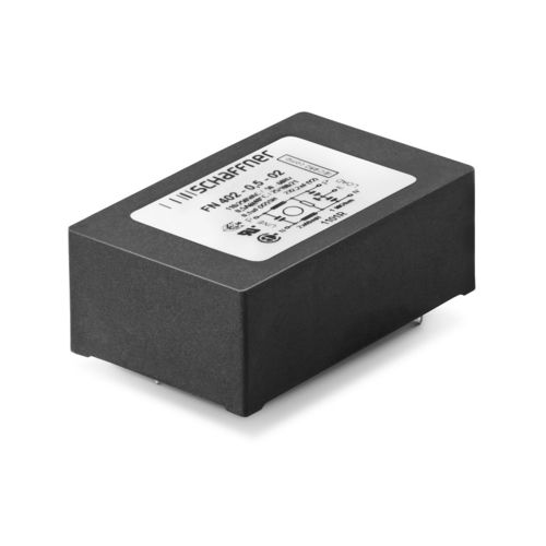 Single-phase EMI filter / DC / for printed circuit boards / compact FN 402 SCHAFFNER Group