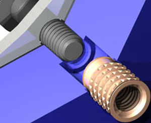 press-in insert / brass / round
