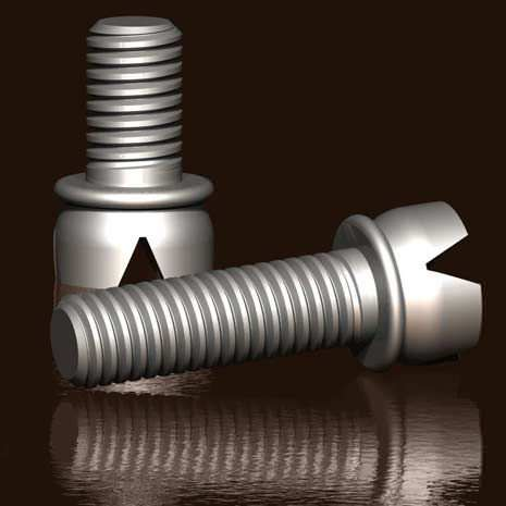 threaded insert / metal / round / molded-in