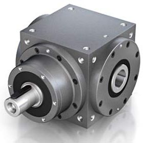 spiral bevel gearbox / right-angle / high-torque / solid-shaft