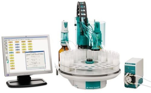 Chlorine titration system / with automatic sample changer Robotic Chloride Analyzer Metrohm