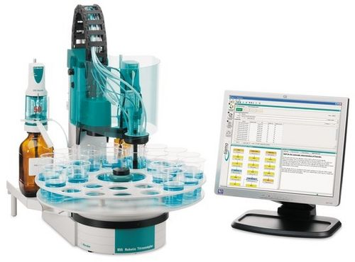 Titration system with automatic sample changer / automatic / fluoride Robotic Fluoride Analyzer  Metrohm