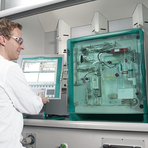 Gas moisture meter / Karl Fischer / laboratory KF Metrohm