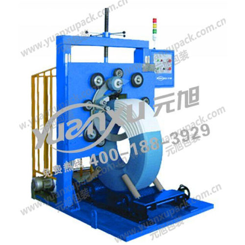 vertical stretch wrapper / automatic / for wire coils / for PP pipes