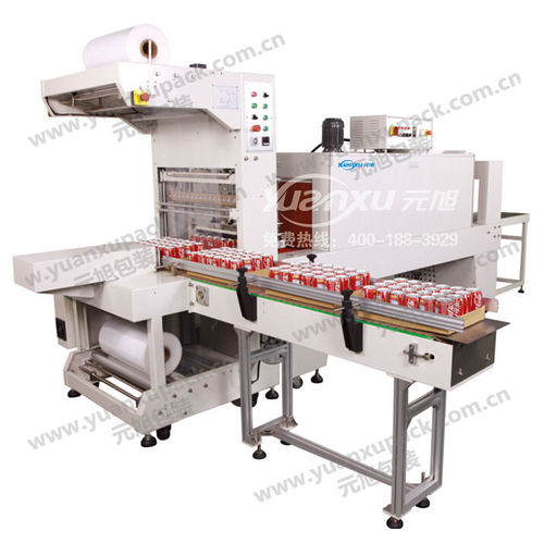 automatic sleeve wrapping machine / beverage / with shrink tunnel
