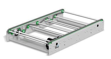 roller conveyor / pallet / horizontal