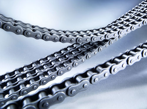 transmission chain / metal / roller / escalator