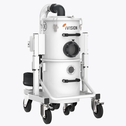 wet and dry vacuum cleaner / three-phase / for the plastics industry / metal machining
