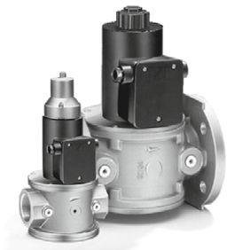 air solenoid valve / for gas / flange / threaded
