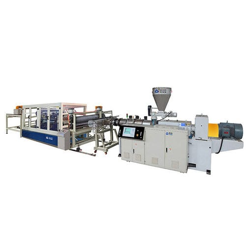 sheet extrusion line / for PVC / for PMMA / multilayer