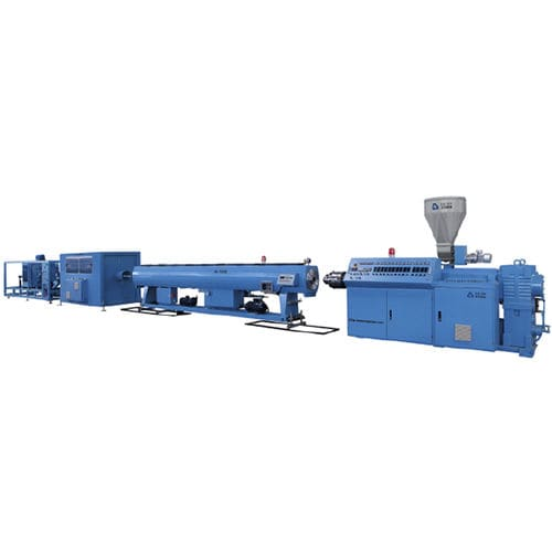 tube extrusion line / for thermoplastics / for PVC / with water cooling