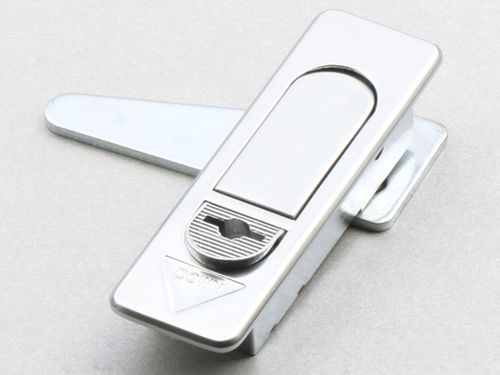 cam lock / cabinet / chrome steel / swing-handle