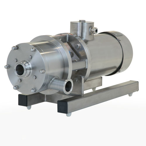 rotor-stator mixer / in-line / stainless steel / variable-speed
