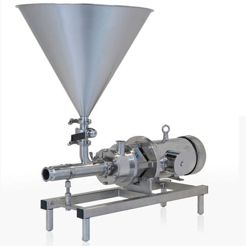 rotor-stator mixer / continuous / powder / high-shear