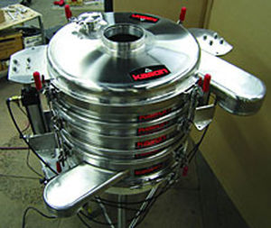 circular vibrating screener / for bulk materials / for the food industry