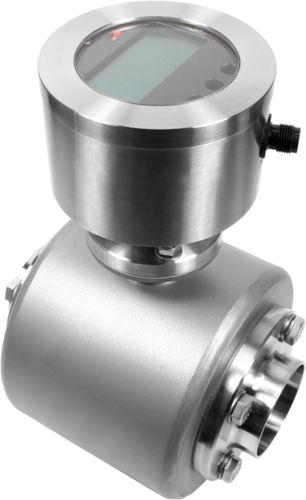 magnetic-inductive flow meter / for liquids / compact / with display