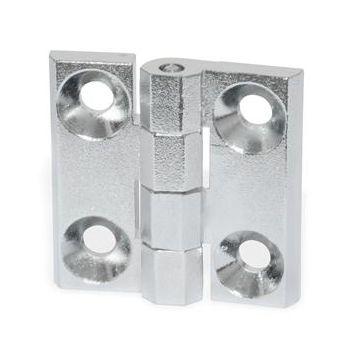 aluminum hinge / die-cast zinc / corner / screw-in