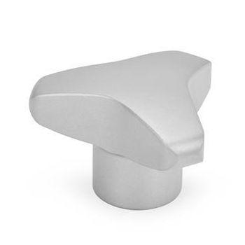 push-pull knob / three-lobe / stainless steel