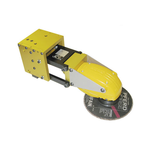 deburring portable grinder / pneumatic / for robots / angle