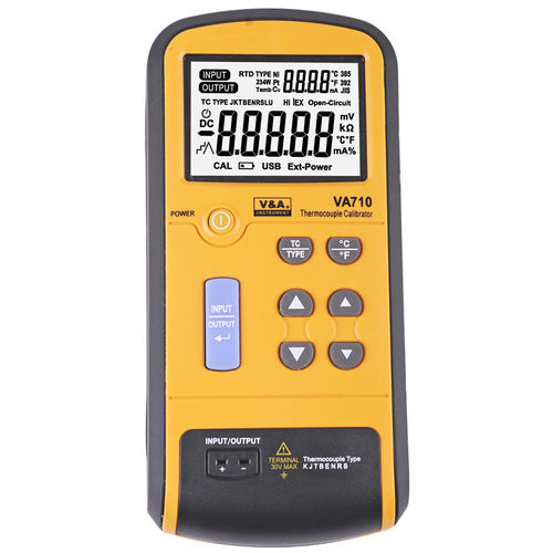 temperature calibrator / for thermocouples / digital / hand-held