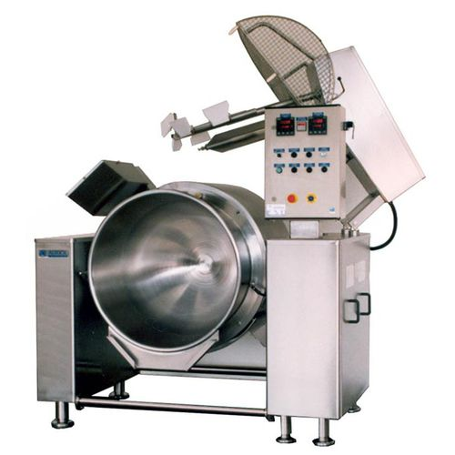 boiling pan for the food industry / reclining / stainless steel