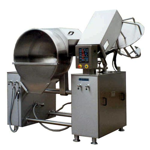 boiling pan for the food industry / reclining / electric / pressure