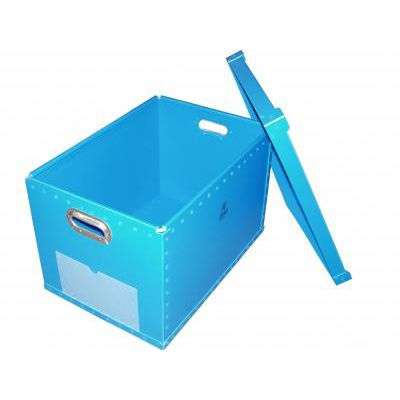 polypropylene crate / storage / with handles / with lid