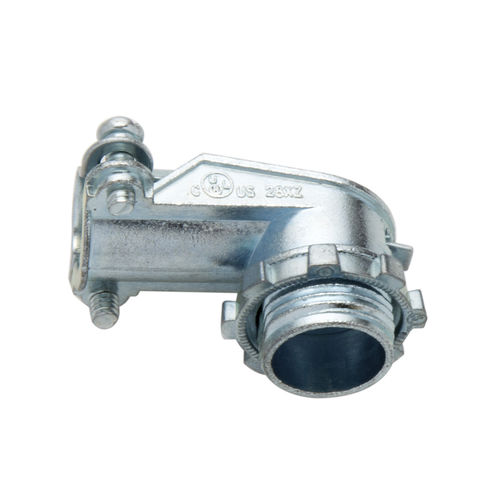 screw-in fitting / 90° angle / zinc
