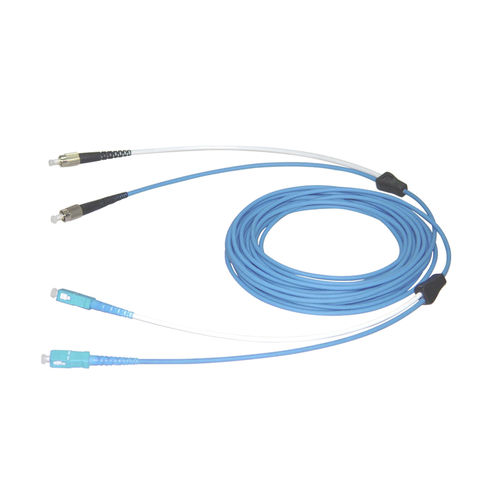 optical data cable / FC type / armored / flameproof