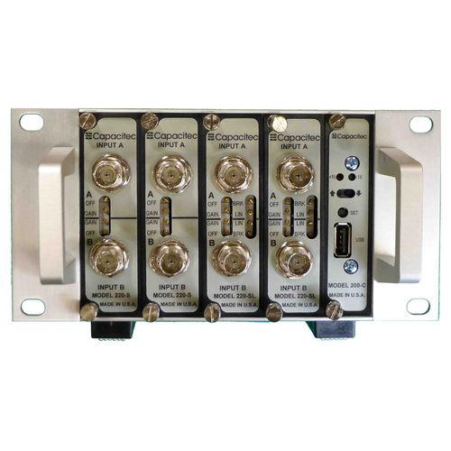 Capacitance amplifier / measuring / electronic / modular Capteura® 200 series CAPACITEC