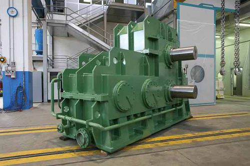 helical gear reducer / parallel-shaft / twin-drive / for hot mills