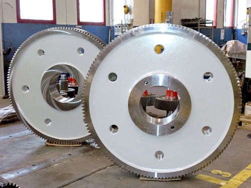 straight-toothed sprocket wheel / hub / for the cement industry