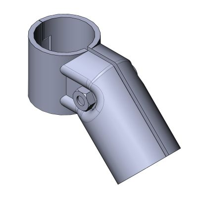 round tube connector / elbow / steel