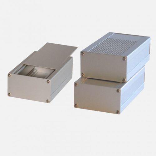 compact housing / rectangular / sheet metal / empty