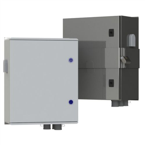 electric cabinet / wall-mount / stainless steel / polyester