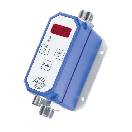 electromagnetic flow meter / for water / programmable / in-line