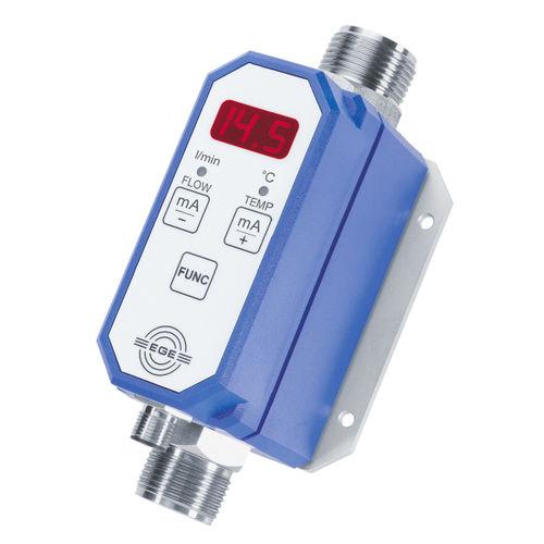 water flow meter / programmable / compact / in-line