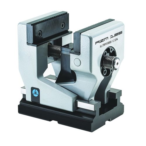 self-centering vise / for machine tools / screw / steel