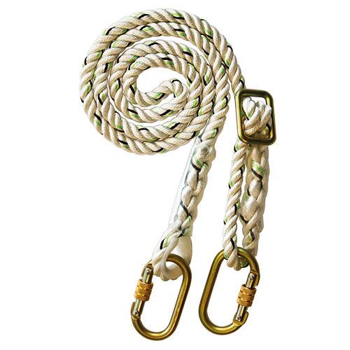 rope fall arrest lanyard / adjustable