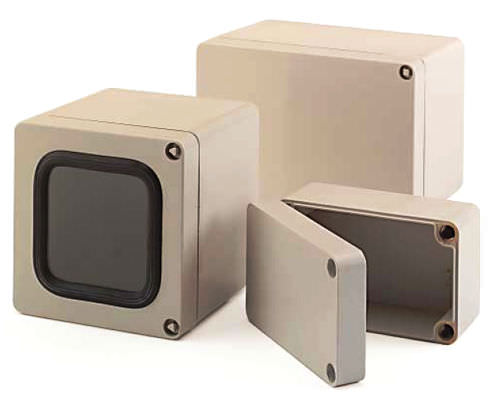Wall-mount enclosure / rectangular / glass fiber-reinforced polyester / with transparent cover Mini-Polyglas ROSE Systemtechnik