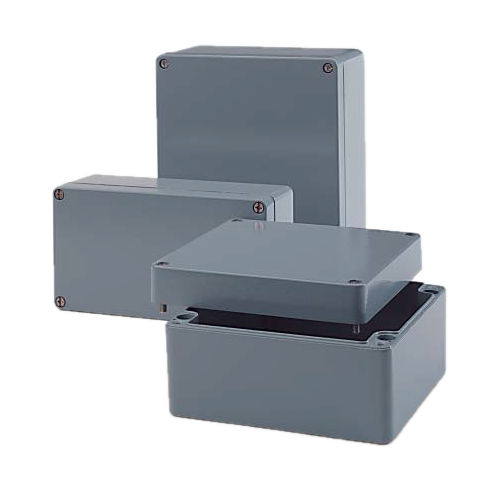 DIN rail enclosure / rectangular / aluminum / for general purpose